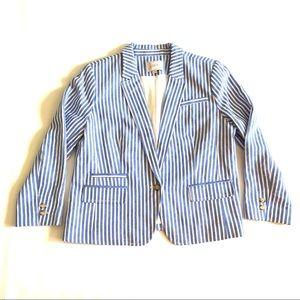 NWOT Loft striped linen blazer 14